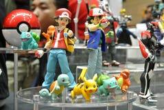 Caractère d'Anime des bandes dessinées de Pokemon et du nombre d'actions fictif de jeux photo stock