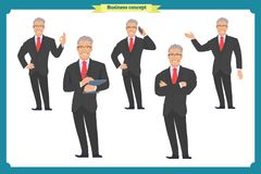 Caractère d'homme d'affaires Homme dans le procès d'affaires illustration libre de droits