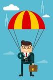 Caractère d'homme d'affaires Image stock