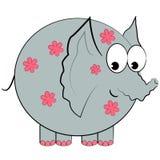 Caractère d'isolement par éléphant de dessin animé   Photo libre de droits