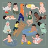 Caractère de bébé Photographie stock