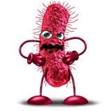 Caractère de bactéries de bande dessinée illustration stock