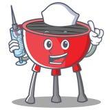 Caractère de Barbecue Grill Cartoon d'infirmière Photos libres de droits