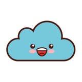 Caractère de calcul de kawaii de nuage Photographie stock libre de droits