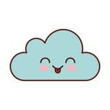 Caractère de calcul de kawaii de nuage Image libre de droits