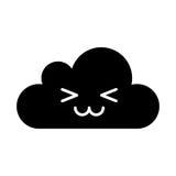 Caractère de calcul de kawaii de nuage Photographie stock