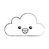 Caractère de calcul de kawaii de nuage Photos libres de droits