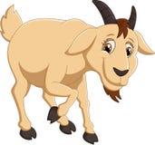 Caractère de chèvre de bande dessinée illustration de vecteur