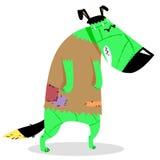 Caractère de chien de Halloween dans le costume du monstre de Frankenstein illustration stock