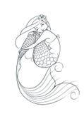 Caractère de conte de fées de sirène Photos stock