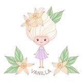 Caractère de fille de glace à la vanille Images libres de droits