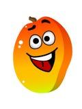 Caractère de fruit de mangue de bande dessinée Photo stock