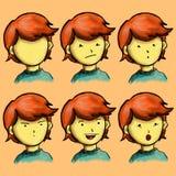 Caractère de garçon d'expression Illustration Stock