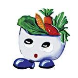 Caractère de garçon de salade de peinture Images stock