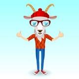 Caractère de hippie de chèvre Images libres de droits