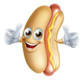 Caractère de hot dog Images stock