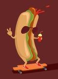 Caractère de hot-dog Photo stock