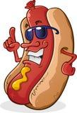 Caractère de hot-dog avec l'assiette Photographie stock libre de droits