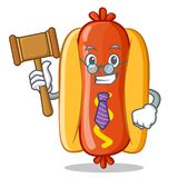 Caractère de Hot Dog Cartoon de juge Image libre de droits