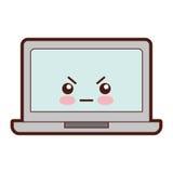 Caractère de kawaii d'ordinateur portable Photos libres de droits