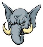 Caractère de mascotte d'éléphant Photo stock