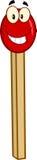 Caractère de mascotte de bande dessinée de bâton de match Image stock