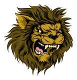 Caractère de mascotte de lion Photographie stock