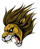 Caractère de mascotte de lion Photo stock