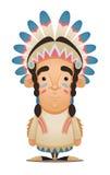 Caractère de Natif américain illustration stock