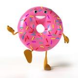 Caractère de nourriture - beignet Image libre de droits