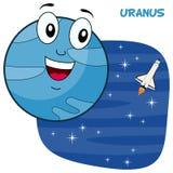 Caractère de planète d'Uranus de bande dessinée Images stock