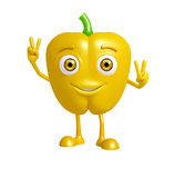 Caractère de poivron avec la pose de victoire illustration de vecteur