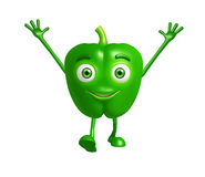 Caractère de poivron avec la pose heureuse photographie stock libre de droits