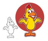 Caractère de poulet Photos stock