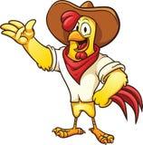 Caractère de poulet de ferme Photographie stock libre de droits