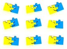 Caractère de puzzle Photographie stock