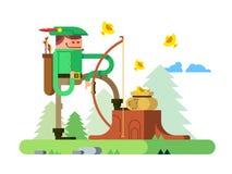Caractère de Robin Hood Photos stock