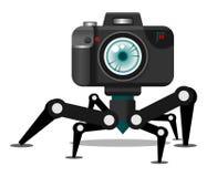 Caractère de robot d'appareil-photo Photographie stock libre de droits