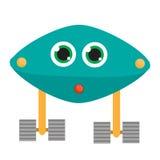 Caractère de robot Illustration de vecteur, éléments d'isolement de conception Androïde bleu Photo stock