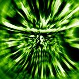 Caractère de soldat de zombi de fureur Contexte dans la couleur verte illustration de vecteur
