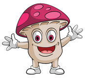 Caractère de sourire de champignon Photos stock