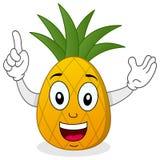 Caractère de sourire heureux d'ananas Images libres de droits