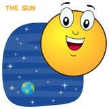 Caractère de Sun de bande dessinée Image stock