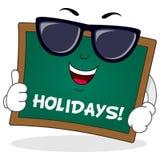 Caractère de tableau de vacances de vacances Image libre de droits
