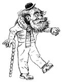 Caractère du vieil homme (vecteur) Image libre de droits