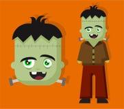 Caractère effrayant d'horreur de Frankenstein pour l'enfant pour Halloween illustration libre de droits