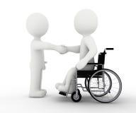 Caractère et handicap blancs illustration stock