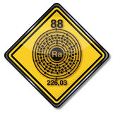 Caractère et radium de chimie de signe illustration stock