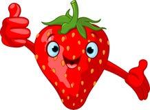 Caractère gai de fraise de dessin animé illustration libre de droits
