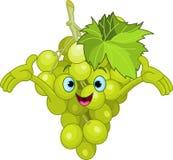 Caractère gai de raisin de dessin animé Photographie stock